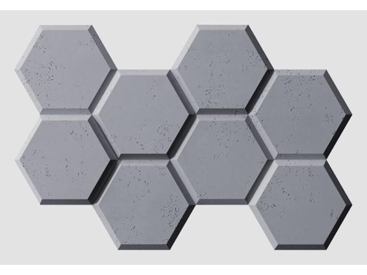97,5x65x3,5 cm VT - PB01 (B8 antracyt) HEKSAGON - panel dekor 3D beton architektoniczny