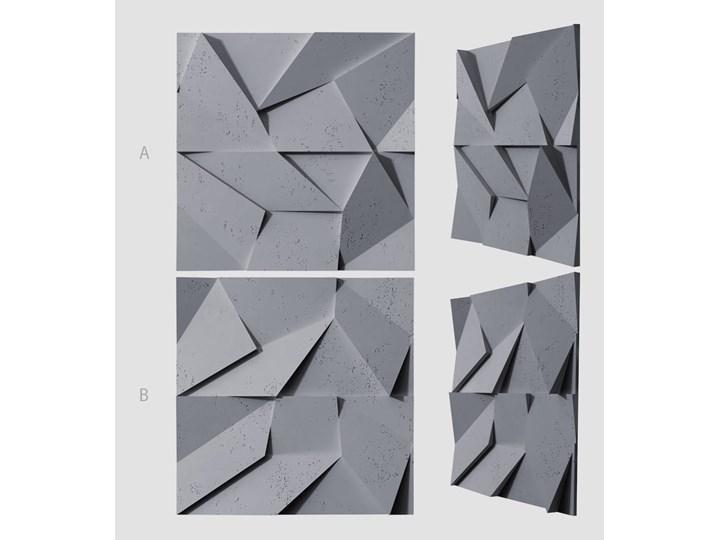 60x60x3,8 cm VT - PB06  (B8 antracyt) ORIGAMI - panel dekor 3D beton architektoniczny Kategoria Panele 3D Kolor Szary