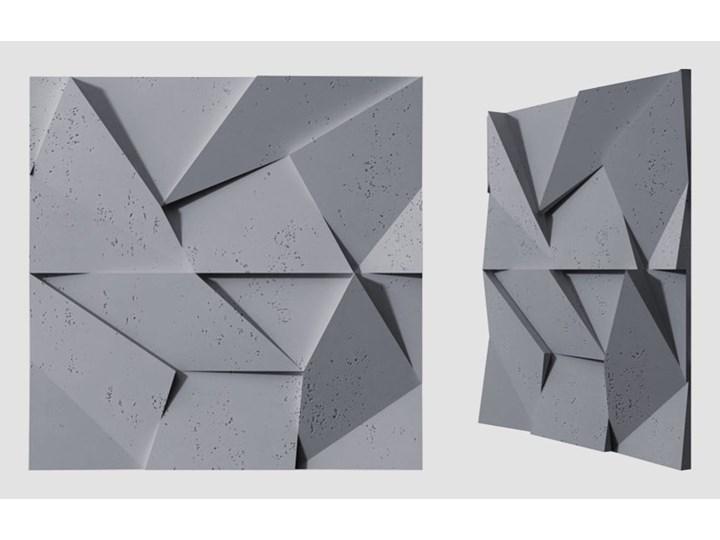 60x60x3,8 cm VT - PB06 (B8 antracyt) ORIGAMI - panel dekor 3D beton architektoniczny