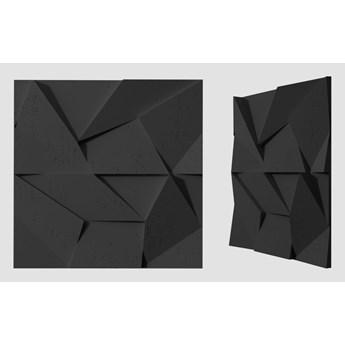 60x60x3,8 cm VT - PB06  (B15 czarny) ORIGAMI - panel dekor 3D beton architektoniczny