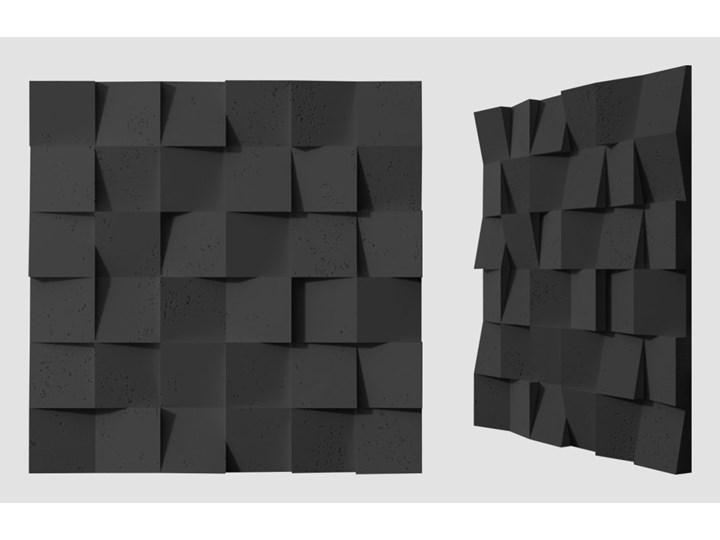 60x60x3 cm VT - PB15 (B15 czarny) COCO - panel dekor 3D beton architektoniczny
