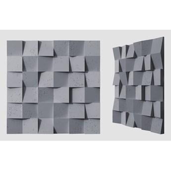 60x60x3 cm VT - PB15  (B8 antracyt) COCO - panel dekor 3D beton architektoniczny
