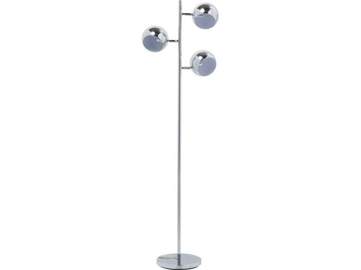 Lampa podłogowa Calotta 40x151 cm srebrna Metal Kategoria Figury i rzeźby