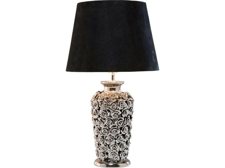 Lampa stołowa Rose Multi 33x56 cm czarno-srebrna Kolor Czarny