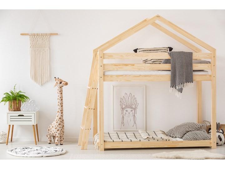 SELSEY Łóżko piętrowe Dalidda domek z drabinką z boku Drewno Rozmiar materaca 90x190 cm Domki Rozmiar materaca 80x180 cm