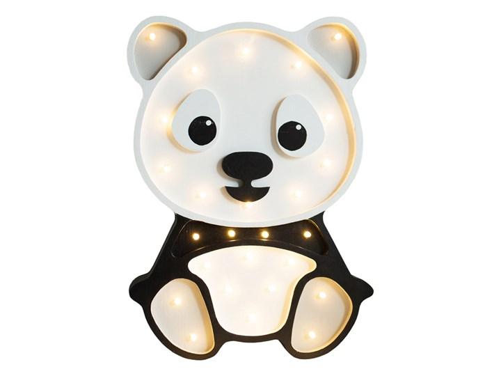 SELSEY Lampa dziecięca w kształcie pandy szara Kolor Biały Kategoria Lampy dziecięce