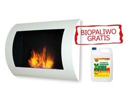 Biokominek dekoracyjny 60x45 cm EcoFire Convex biały + 5L bioetanol GRATIS zestaw-007 + Transport juz od 8,90 zł - NATYCHMIASTOWA WYSYŁKA !!