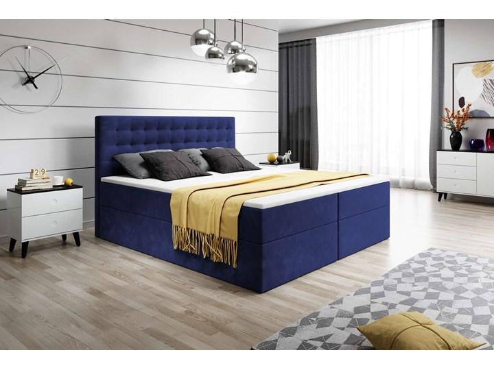 ŁÓŻKO KONTYNENTALNE 160X200 BARI Łóżko tapicerowane Kolor Szary Kategoria Łóżka do sypialni