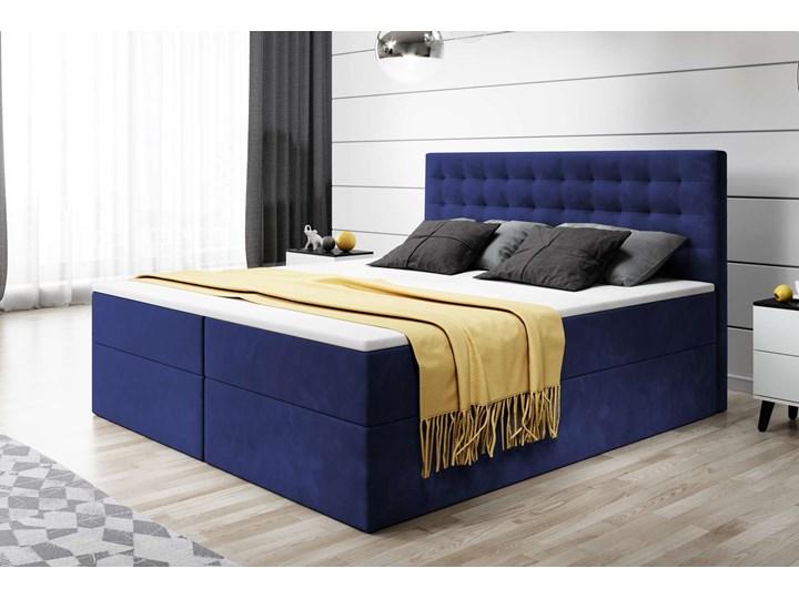 ŁÓŻKO KONTYNENTALNE 160X200 BARI Łóżko tapicerowane Rozmiar materaca 160x200 cm Kolor Szary