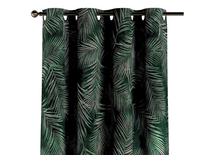 Zasłona na kółkach 1 szt., zielony w liście, 1szt 130 × 260 cm, Velvet Kolor Khaki Zasłona prześwitująca 130x260 cm Poliester Mocowanie Taśma