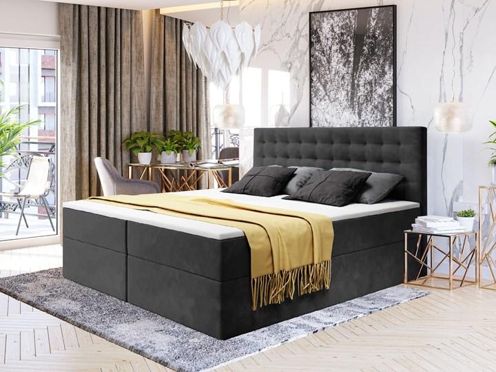 ŁÓŻKO KONTYNENTALNE 160X200 Z POJEMNIKIEM - BARI - KOLORY DO WYBORU Kategoria Łóżka do sypialni Kolor Szary