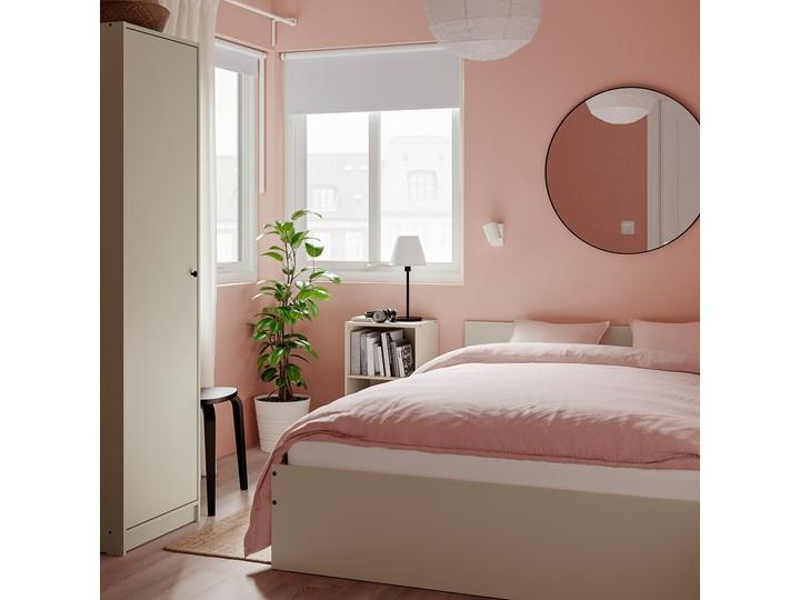 IKEA GURSKEN Rama łóżka, zagłówek, jasnobeżowy/Luröy, 140x200 cm Łóżko drewniane Pojemnik na pościel Bez pojemnika