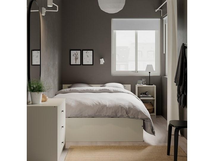 IKEA GURSKEN Rama łóżka, zagłówek, jasnobeżowy/Luröy, 140x200 cm Łóżko drewniane Zagłówek Z zagłówkiem