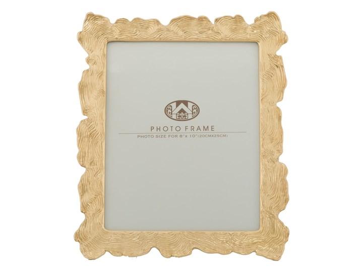 Ramka na zdjęcie w kolorze złota z motywem fal Mauro Ferretti, 27x31,5 cm Ramka na zdjęcia Kolor Złoty