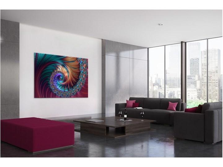 Obraz Styler Glas Fractal Gold, 80x120 cm Pomieszczenie Salon Pomieszczenie Przedpokój