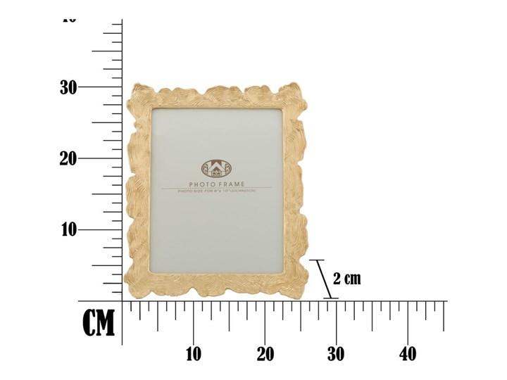 Ramka na zdjęcie w kolorze złota z motywem fal Mauro Ferretti, 27x31,5 cm Ramka na zdjęcia Pomieszczenie Sypialnia