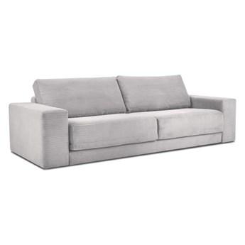 Jasnoszara sztruksowa sofa rozkładana Milo Casa Donatella