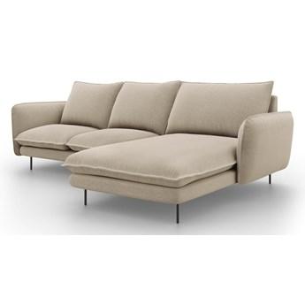Beżowa sofa narożna Cosmopolitan Design Vienna, prawostronna
