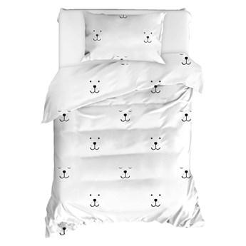 Pościel jednoosobowa z bawełny ranforce Mijolnir Eles White, 140x200 cm