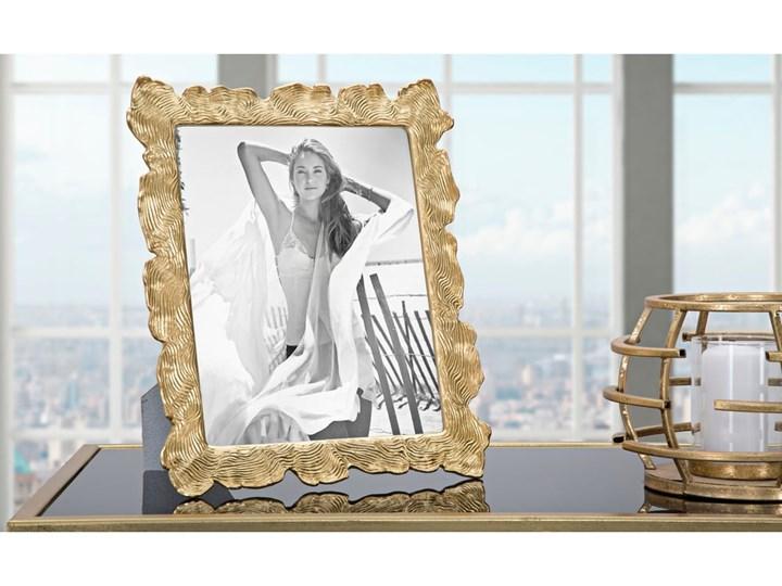 Ramka na zdjęcie w kolorze złota z motywem fal Mauro Ferretti, 27x31,5 cm Ramka na zdjęcia Kolor Szary