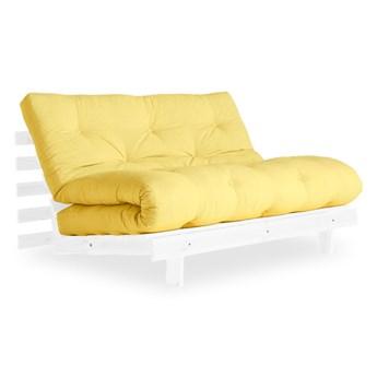 Sofa rozkładana Karup Design Roots White/Yellow