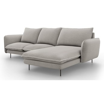Jasnoszara sofa narożna Cosmopolitan Design Vienna, prawostronna