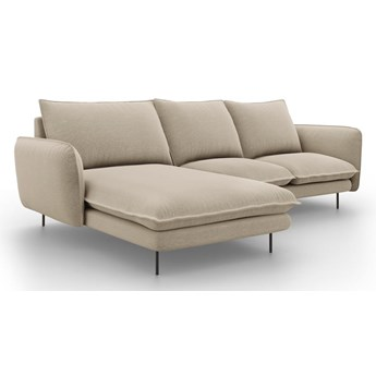 Beżowa sofa narożna Cosmopolitan Design Vienna, lewostronna