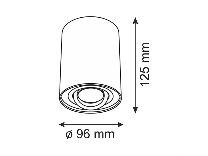 Hadar lampa sufitowa tuba kierunkowa 1xGU10 biała Oprawa stropowa Oprawa led Kolor Biały