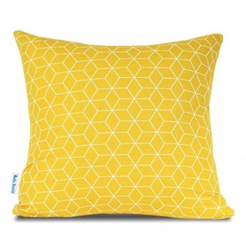 Poszewka bawełniana Cube Yellow 40x40