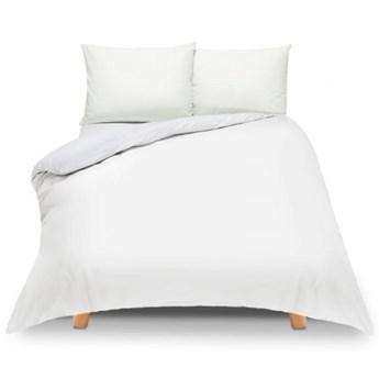 Pościel z bawełny 220x200 biała Semplice – jednokolorowa