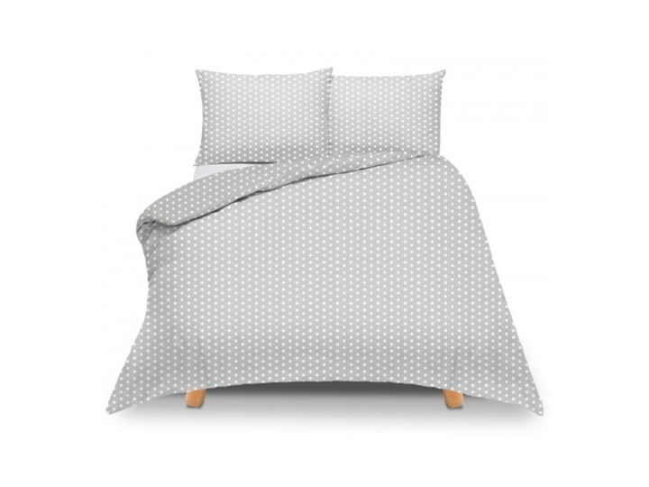 Pościel bawełniana szara w białe kropki 220x200 Rozmiar poduszki 50x60 cm 200x220 cm Komplet pościeli Rozmiar poduszki 50x70 cm