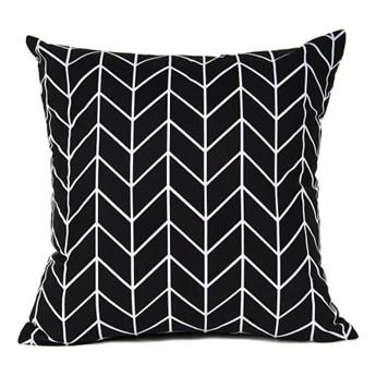 Poszewka bawełniana Geometric Black 45x45