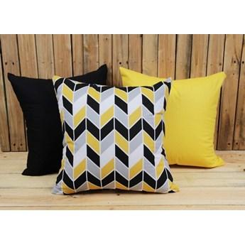 Zestaw 3 poszewek bawełnianych Geometric Yellow + żółty + czarny