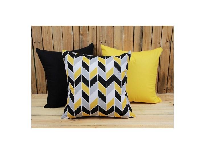 Zestaw 3 poszewek bawełnianych Geometric Yellow + żółty + czarny 40x40 cm 60x60 cm Poszewka dekoracyjna Bawełna Kwadratowe Wzór Geometryczny Pomieszczenie Pokój nastolatka