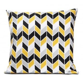 Poszewka bawełniana Geometric Yellow 45x45