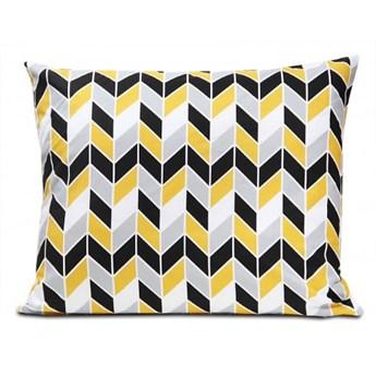 Poszewka bawełniana Geometric Yellow 50x60