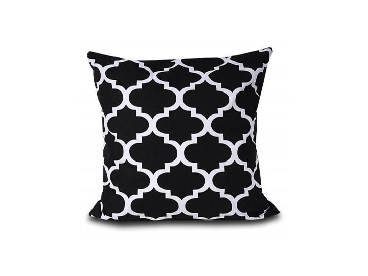 Poszewka bawełniana Maroko czarne 45x45 Bawełna 45x45 cm Poszewka dekoracyjna Kwadratowe Pomieszczenie Salon Kolor Biały