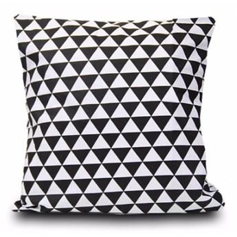 Poszewka bawełniana Trójkąty czarno-białe 40x40