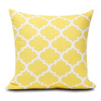 Poszewka bawełniana Maroko żółte 45x45