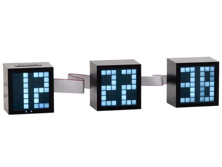 Zegar budzik Block Nieregularny Zegar stołowy Tworzywo sztuczne Pomieszczenie Biuro i pracownia Kolor Czarny