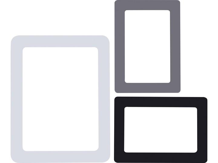 Ramki magnetyczne do zdjęć kpl 3 szt. Multiramka Metal Kolor Czarny