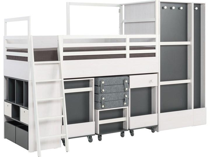 Kontenerek z półkami (do łóżka multi) Płyta MDF Kategoria Szafki i regały Drewno Pomieszczenie Biuro i pracownia