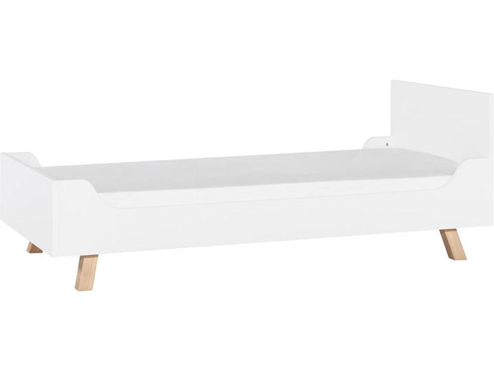 Łóżko 1-osobowe 90x200 Drewno Tradycyjne Płyta MDF Płyta meblowa Liczba miejsc Jednoosobowe