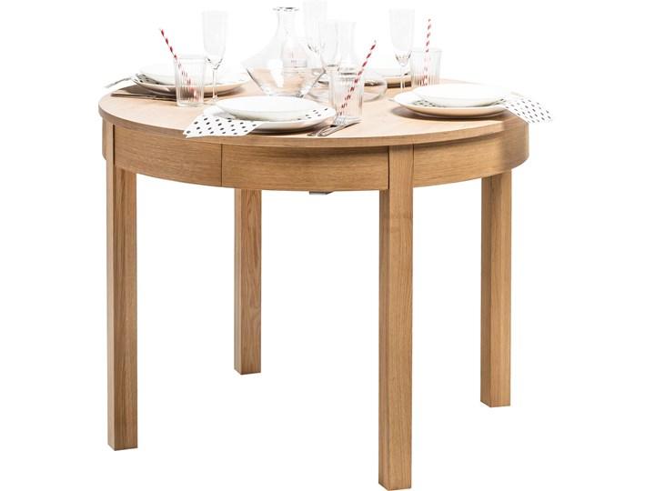 Stół rozkładany okrągły Styl Kolonialny
