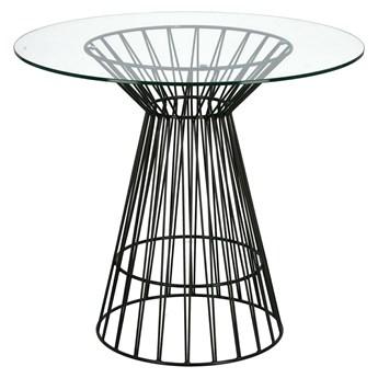 Stół Cage czarny/transparentny
