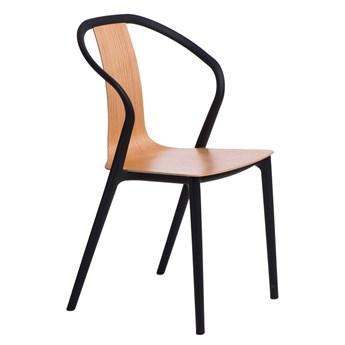 Krzesło Bella czarne/ naturalne