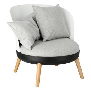 Fotel Redo Duo biały/czarny/szary