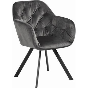 Krzesło z podłokietnikami z aksamitu Lucja