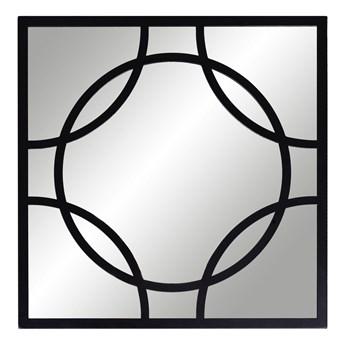 Lustro kwadratowe 45cm Tiffany czarne