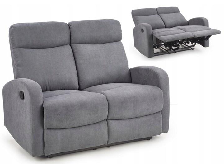 Sofa Rozkładana OSLO 2S Wypoczynkowa Popiel HALMAR Szerokość 128 cm Głębokość 95 cm Pomieszczenie Salon